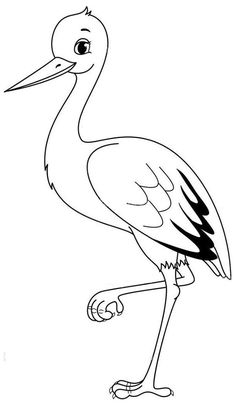 Bird Coloring Pages, Coloring Pages For Kids, Coloring Books, Bird Template, Class Decoration, Bird Design, Drawing For Kids, Spring Crafts, Easy Drawings