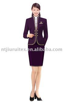 hotel receptionist uniform Business Attire, Business Casual, Pencil Dress, Peplum Dress, Hotel Uniform, Staff Uniforms, Hotel Reception, Hotel Staff, Uniform Design
