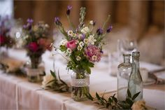 Country Garden Wedding - The Flower Mill exactly the look I;d like for the tables!
