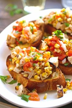 Grilled Chicken and Veggie Bruschetta is perfect for any summer meal! #ad