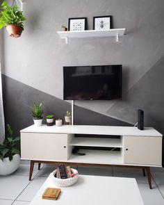 Como decorar sala pequena com pouco dinheiro: 80 ideias econômicas Bedroom Wall Designs, Living Room Designs, Bedroom Decor, Wall Decor, Living Room Tv, Home And Living, Decora Home, Sala Grande, Interior Design