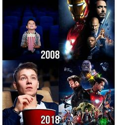 I was 10 when Iron Man came out and yesterday I turned 20, one of the most surreal moments ever!