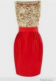 Nice red and gold party dress 2017-2018