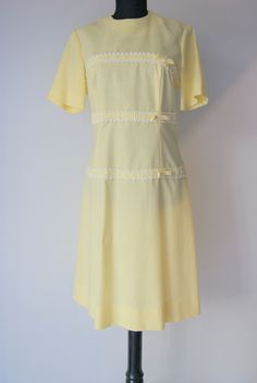 1960s Vintage Yellow Scooter Dress by Herman Marcus of Dallas by hipandvintage on Etsy