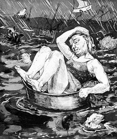 Flood, Paula Rego, etching