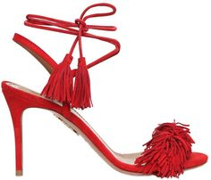 85mm Wild Thing Fringed Suede Sandals