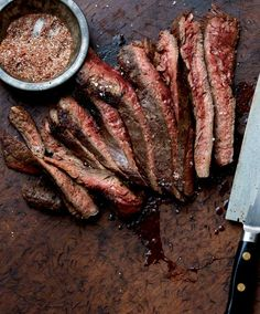 Grilled Flank Steak With Chile Spice Rub -- works with skirt steak, too. Use sea salt in the rub, and skip the olive oil for Phase 2.