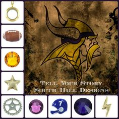 #football, #lockets, #vikings www.southhilldesigns.com/charm-girl