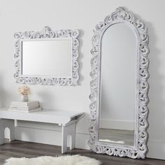 Check out your style from head to toe with this Over-the-Door Full-Length Mirror. With an option to mount to your wall, this mirror makes it a breeze to check out your top-to-bottom style anywhere in your dorm. Locker Mirror, Wall Mirrors, Bedroom Mirrors, White Framed Mirrors, Hanging Mirrors, Floor Mirrors, Decorative Mirrors, Pottery Barn Kids Backpack, Bunk Bed With Desk