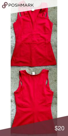 """Venus peplum top. Size small Never worn. Polyester/spandex blend. True red. Size small Length 25"""" Armpit to armpit 15"""" venus Tops"""