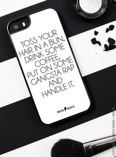"Use coupon code ""pinterest"" Put on Some Gangsta Rap and Handle it - Cell Phone Case - WHITE - iPhone 5/5s - iPhone 6/6s - iPhone 6 Plus/6s plus by DentzDenim"