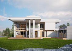 Projekty domów LK&Projekt LK&1253 wizualizacja 3