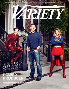 """May 18, 2015: Supergirl and The Flash Join Berlanti on """"Variety"""" Cover ift.tt/1Hoe5ME"""