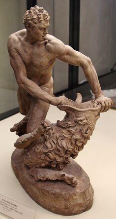 Hercules and Nemean Lion. 1621. Stefano Maderno. Italian 1575-1636. terracotta.
