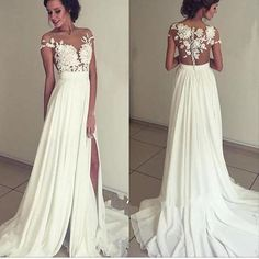 2017 Long Appliques Floor-Length Charming Evening Party Prom Gown Dresses. PD0252 - US20 / Custom color