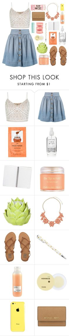 """""""Spring is here..."""" by lover-of-pie ❤ liked on Polyvore featuring Current/Elliott, H&M, Sara Happ, Zara Home, Dorothy Perkins, Billabong, Davines, Korres, John Galliano and MICHAEL Michael Kors"""