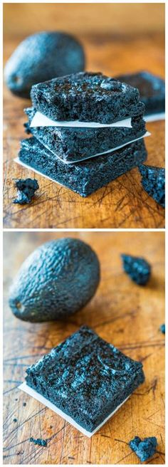 Healthy Dark Fudgy Avocado Brownies Recipe