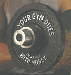 FITCLUB - Your gym dues aren't paid with money.