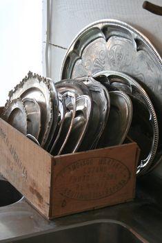 Vintage Silver Plated Trays - Fabkeramik, a Swedish blog