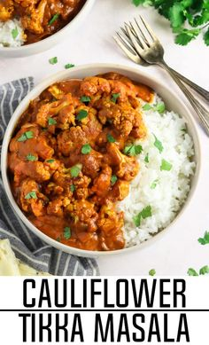 Savory, bold and mildly-spiced, this Cauliflower Tikka Masala is a flavor-packed recipe that your whole family will love. It's a pure comfort meal that is easy to make and it's budget-friendly too!