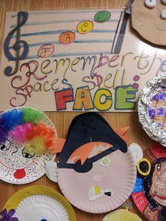 Bulletin Board idea involving students: from Mrs. Q's Music Blog