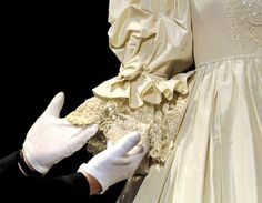 Sleeve detail of Diana's gown