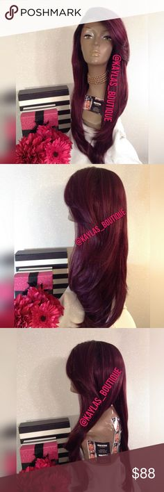 FLOWY LACE FRONT WIG HUMAN HAIR BLEND APPROXIMATELY 24-26 INCHES GORGEOUS PURPLE MIX COLOR TAKES HEAT UP TO °400 RIGHT SIDE PART CAN BE PUT IN PONYTAIL 🎁I DO NOT TRADE AT ALL #NEVER 🎁NOT ACCEPTING OFFERS 🎁NO HOLDS 🎁PRICE IS FIRM 👑ACTUAL PHOTOS OF MY PRODUCT & MY WORK NO SCREENSHOTS NO STOCK PHOTOS  📣I DO NOT TRADE📣  💌SHIPPING POLICY :SAME DAY SHIPPING IF PURCHASED BEFORE 12PM MONDAY | SATURDAY . DELIVERY TIME :2-3 BUSINESS DAYS Accessories Hair Accessories
