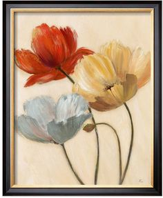 Let your decor bloom with this pretty Art.com ''Poppy Palette II'' framed wall art. <ul> <li>Sharp, vivid image with high degree of color accuracy</li> <li>Acrylic coating protects from dust, moisture & fading</li> <li>Silken finish PRODUCT DETAILS</li> <li>22''H x 18''W x 1''D</li> <li>Paper, wood, acrylic</li> <li>Vertical display</li> <li&g