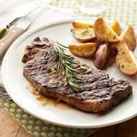 Grilled New York Strip Steaks. More gluten-free meals available at: http://www.diabeticlivingonline.com/diabetic-recipes/main-dishes/diabetic-gluten-free-recipes