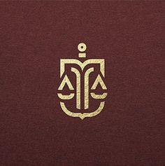 Initials Logo, Monogram Logo, Logo Inspiration, Modelo Logo, Justice Logo, Law Office Decor, Law Firm Logo, Free Business Card Templates, Medical Logo