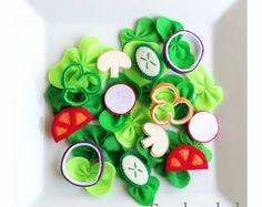 Etsy Pretend Felt food How to make Fresh salad