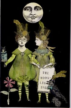 THE MOONLIGHT BALL by Nancy Gene Armstrong working with Character Constructions art stamps.