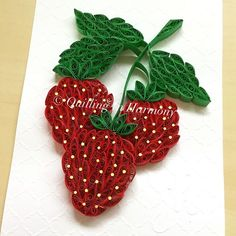 """I'm on a fruit kick..getting my vitamin C ..no ants this time.5"""" x 7"""" (20cmx26cm) Quilling, hand crafted paper artwork by Jan and Shannon. For custom orders please contact us at quilling_in_harmony@hotmail.com This image is copyrighted to ©quilling_in_harmony. All rights reserved. Do not reproduce or copy my design. Thanks so much. #quillinginharmony #quilling #quillingart #handcrafted #paperfiligree #paperart #paper #art_realisme #quilledpaperart #paperquilling #art #instagram #p..."""