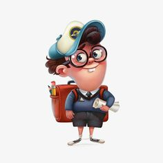 Find Funny Character Schoolboy Graphic Illustration stock images in HD and millions of other royalty-free stock photos, illustrations and vectors in the Shutterstock collection. Office Cartoon, Cartoon Boy, Funny Character, Boy Character, Disney Cartoon Characters, Cute Characters, Character Design Animation, Character Design References, Children's Book Illustration