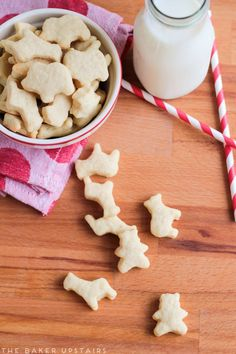 Homemade animal crackers - so cute, wholesome, and delicious! www.thebakerupstairs.com