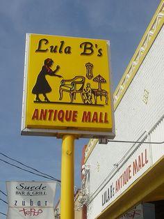 Lola B's Antique Mall, now in Deep Ellum! Todo List, Antique Signs, Brew Pub, Old Signs, Texas Travel, Flea Markets, Advertising Signs, Dallas Texas, Antique Stores