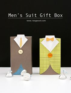 Men's Suit Gift Box with tutorial   www.1dogwoof.com