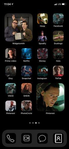 Marvel Avengers Movies, Phone Themes, Iphone Wallpaper App, App Icon Design, Ios Icon, Ios App, Homescreen, Aesthetic Wallpapers, Ideas Para