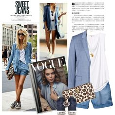 chambray, created by crisp on Polyvore