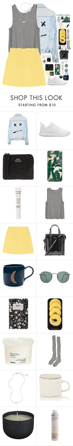 """BRIDGES, THEY ARE BURNING"" by kappucino ❤ liked on Polyvore featuring NIKE, Nikon, Acne Studios, Sunday Riley, Valentino, Balenciaga, Ray-Ban, Design Letters, Lindt and Davines"