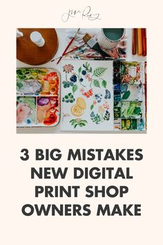 Three big mistakes new digital print shop owners make. With selling platforms becoming more and more densely populated, it's imperative that shop owners focus on the business side just as equally as the creative side in order to create a profitable business. Here's my tips! Creating A Business Plan, Business Planning, Business Tips, Happy Little Trees, Word Out, Online Print Shop, Small Business Marketing, Business Entrepreneur, Creative Business