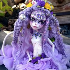 """Kvïtka"" custom OOAK Catrine Demew monster high doll by @LadySpoonArt"