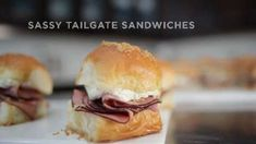 All that sass in one sandwich! Try out this great recipe for Sassy Tailgate Sandwiches from PHILADELPHIA Cream Cheese next time you have friends and family o. Tailgate Sandwiches, Appetizer Sandwiches, Bacon Appetizers, Hawaiian Bread Rolls, Sassy, Cream Cheese Spreads, Game Day Food, Sandwich Recipes, Yummy Food