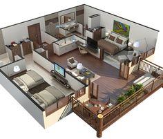 PORTFOLIO 3D FLOOR PLANT | Xline3d