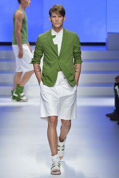 Salvatore Ferragamo Men's RTW Spring 2014 sage jacket & shorts