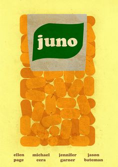 Juno (2007) - Minimal Movie Poster by Paul Rice ~ #minimalmovieposter #alternativemovieposter #paulrice