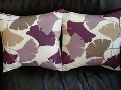 Throw pillow purple lilac beige brown fan pattern by VeeDubz, $40.00