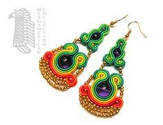 Sutasz-Anka - El Dorado earrings http://www.soutage.com/2013/02/el-dorado-kolczyki.html