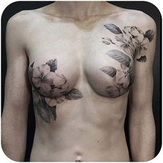 Gorgeous black and grey mastectomy scar coverup by @davidallen DavidAllen masectomy coverup blackandgrey floral