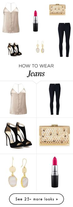 """Untitled #7141"" by mie-miemie on Polyvore featuring Miss Selfridge, Frame Denim, MAC Cosmetics and Diane Von Furstenberg"